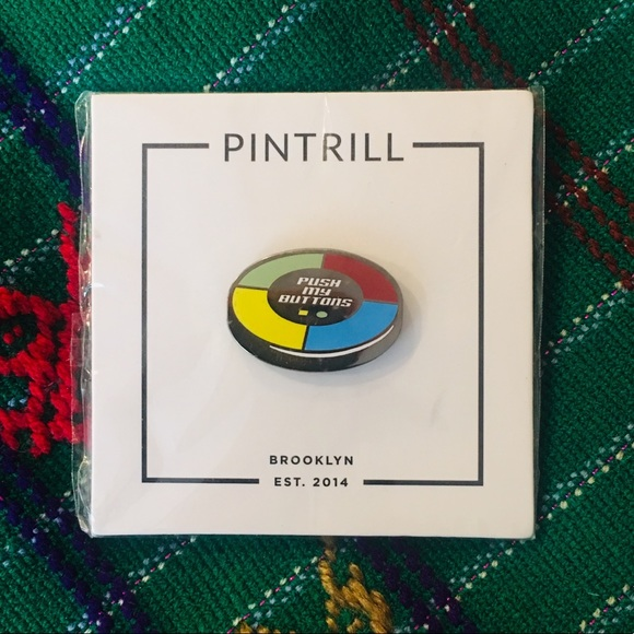 Pintrill Accessories - Pintrill Push My Buttons Simon Says Enamel Pin